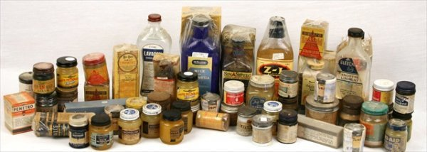 ANTIQUE APOTHECARY OINTMENTS LINIMENTS REMEDIES