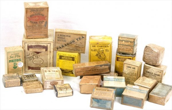 ANTIQUE APOTHECARY HOMEOPATHIC HERBS DICKEY'S