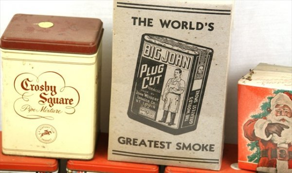 ANTIQUE GENERAL STORE 1950 TOBACCO CONTAINERS CIGAR BOX - 3