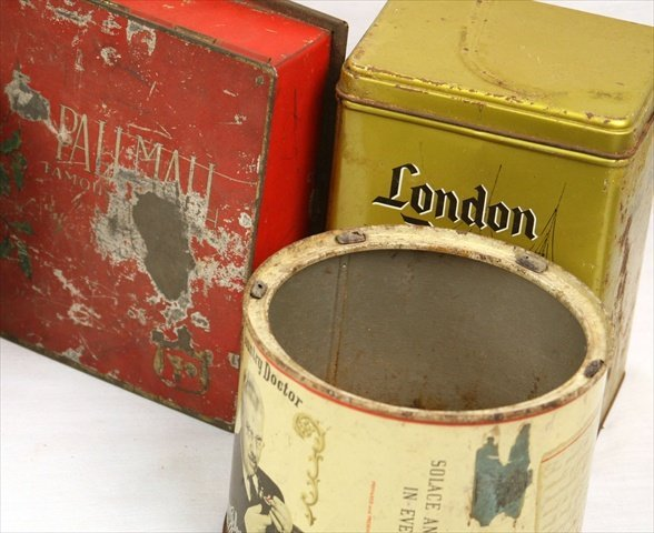 ANTIQUE GENERAL STORE 1950 TOBACCO CONTAINERS CIGAR BOX - 4