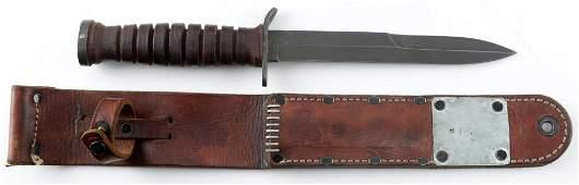 WWII US ARMY M3 KA BAR FIGHTING KNIFE CAMILLUS