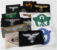 WWII GERMAN THIRD REICH CLOTH INSIGNIA PATCH GROUP