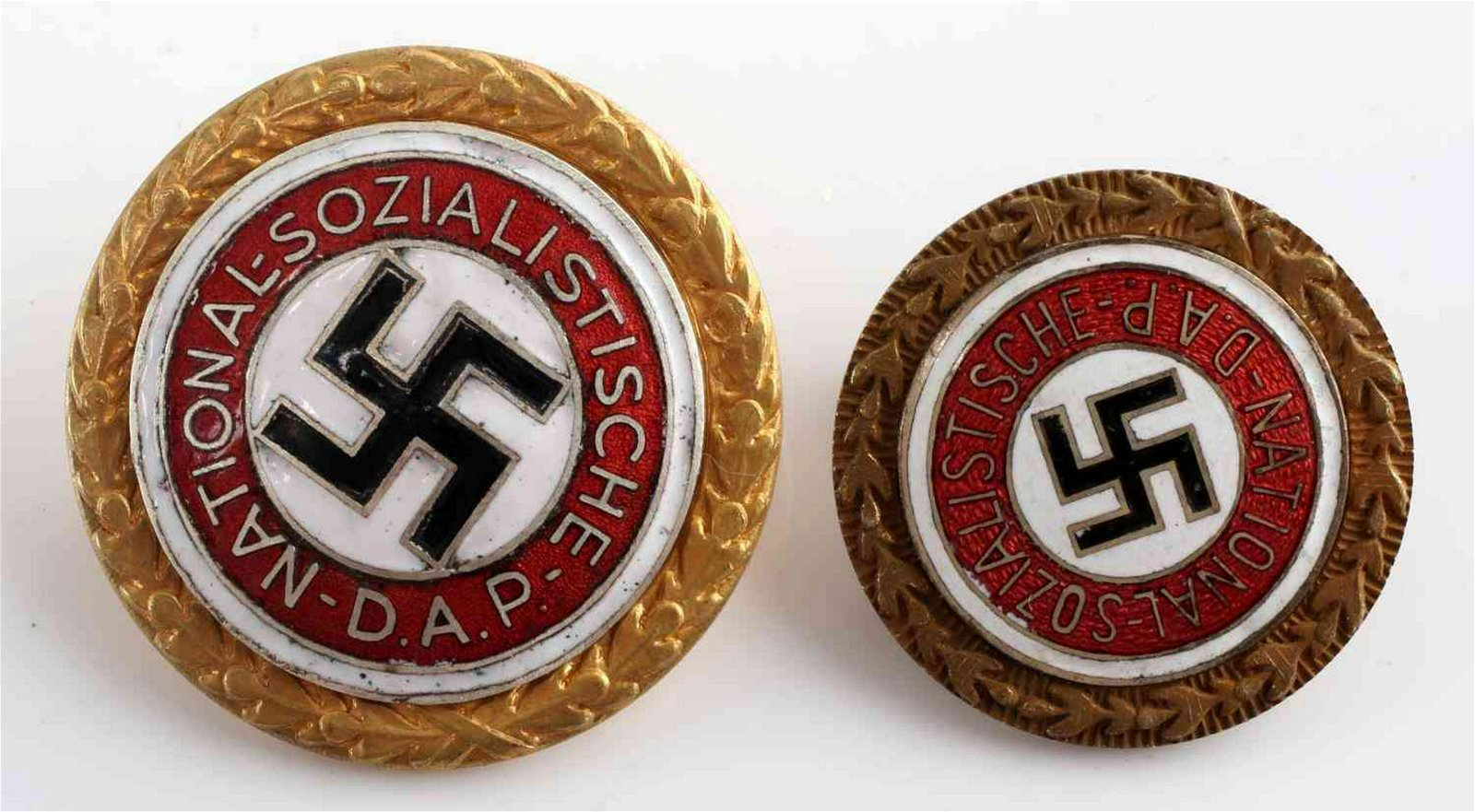 WWII GERMAN THIRD REICH NSDAP GOLD PARTY BADGE LOT