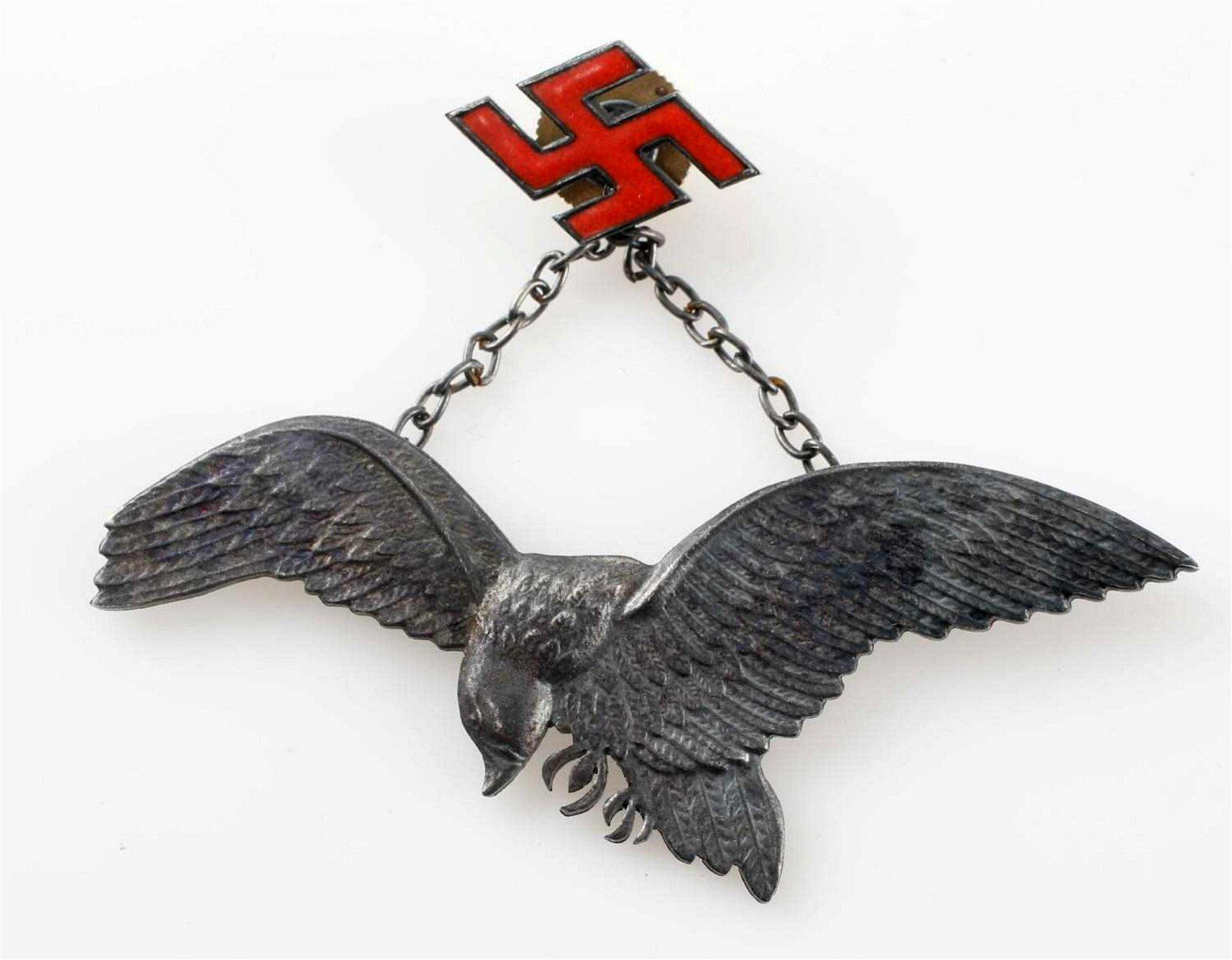 WWII GERMAN LUFTWAFFE POLISH AXIS AVIATOR BADGE