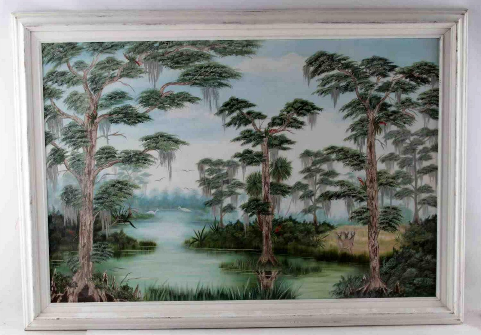 OIL ON CANVAS PAINTING IN HIGHWAYMEN STYLE SIGNED