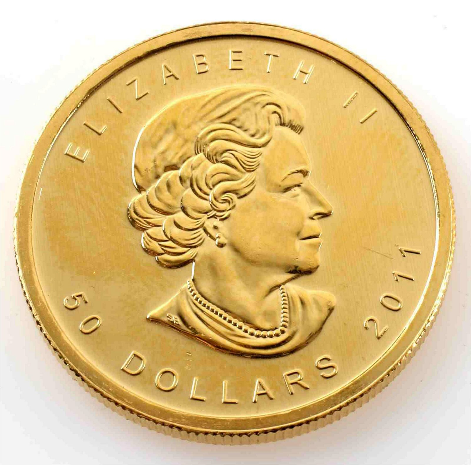 2011 GOLD CANADA MAPLE LEAF 1 OZT .999 FINE