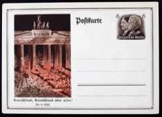 WWII NSDAP GERMAN POLTFARTE 1933 RALLY POSTCARD