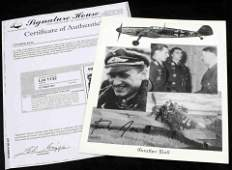 GERMAN LUFTWAFFE ACE GUNTHER RALL SIGNED PHOTO