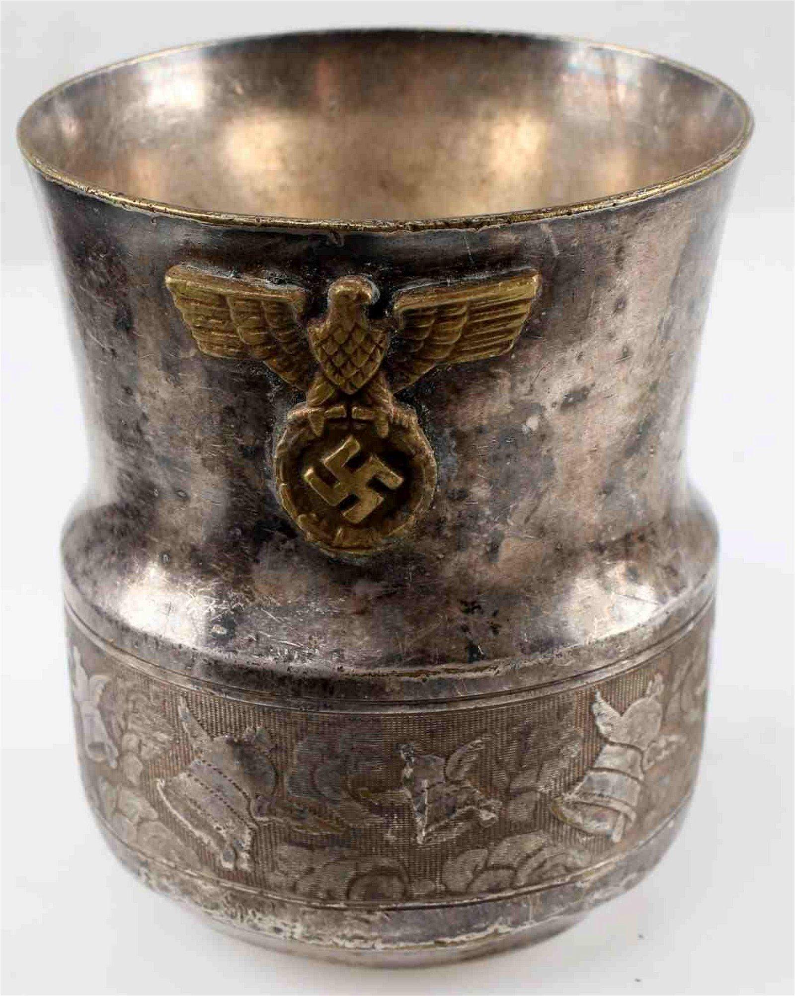 WWII GERMAN THIRD REICH HEER ARMY FLOWER VASE