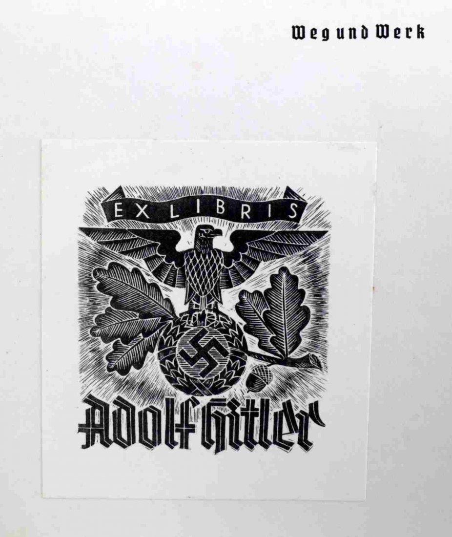WWII GERMAN ADOLF HITLER EX LIBRIS WEG UND WERK