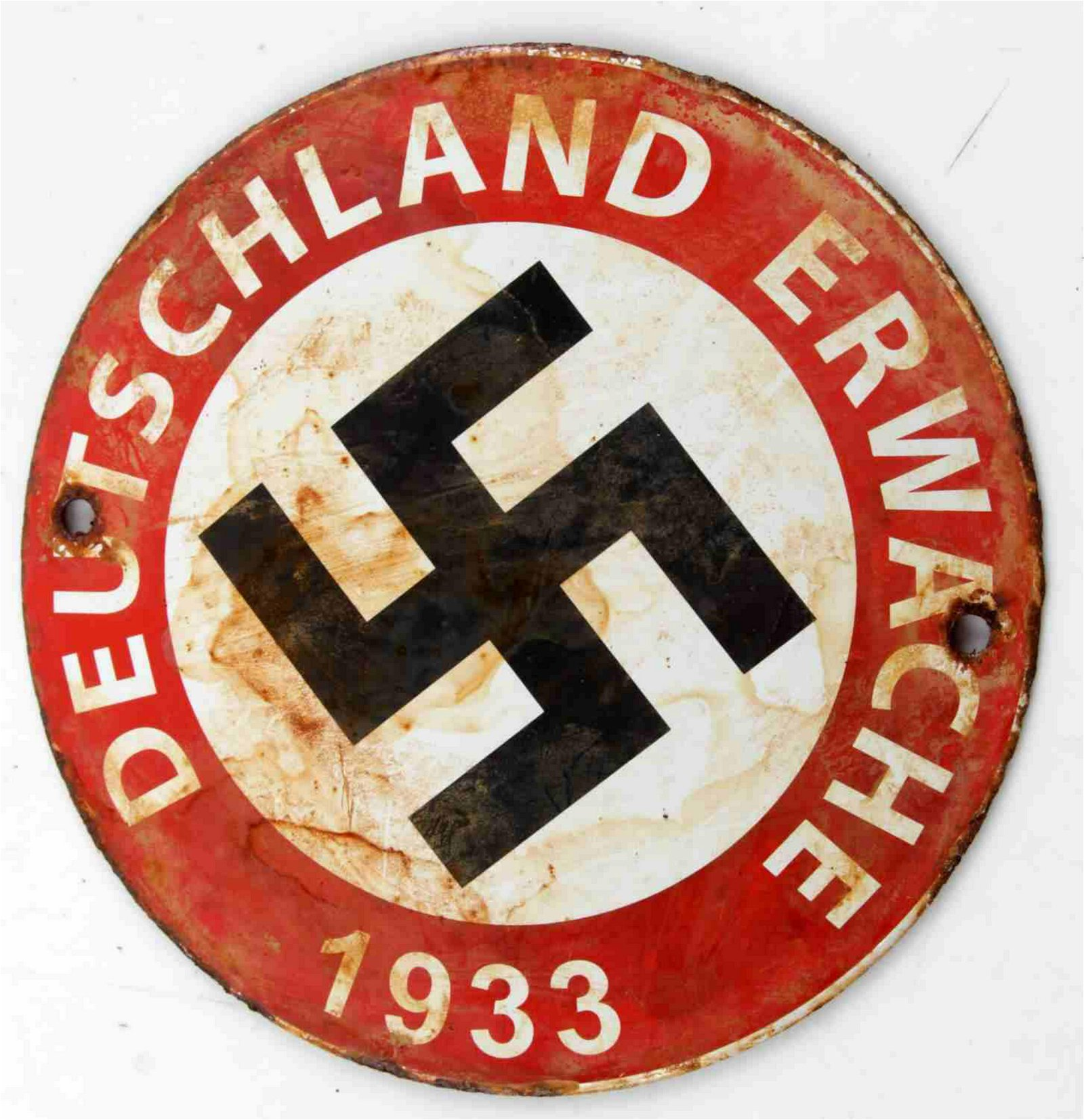 WWII GERMAN 3RD REICH NSDAP PROPAGANDA STREET SIGN