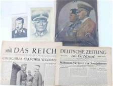 LOT OF THIRD REICH WWII GERMAN EPHEMERA GALLAND