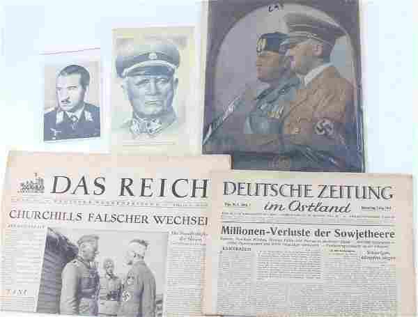 LOT OF THIRD REICH WWII GERMAN EPHEMERA GALLAND