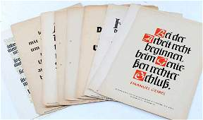 LOT OF 11 THIRD REICH WWII GERMAN AWARD DOCUMENTS