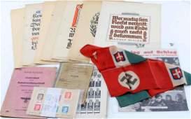 WWII THIRD REICH GERMAN AWARDS & OTHER DOCUMENTS