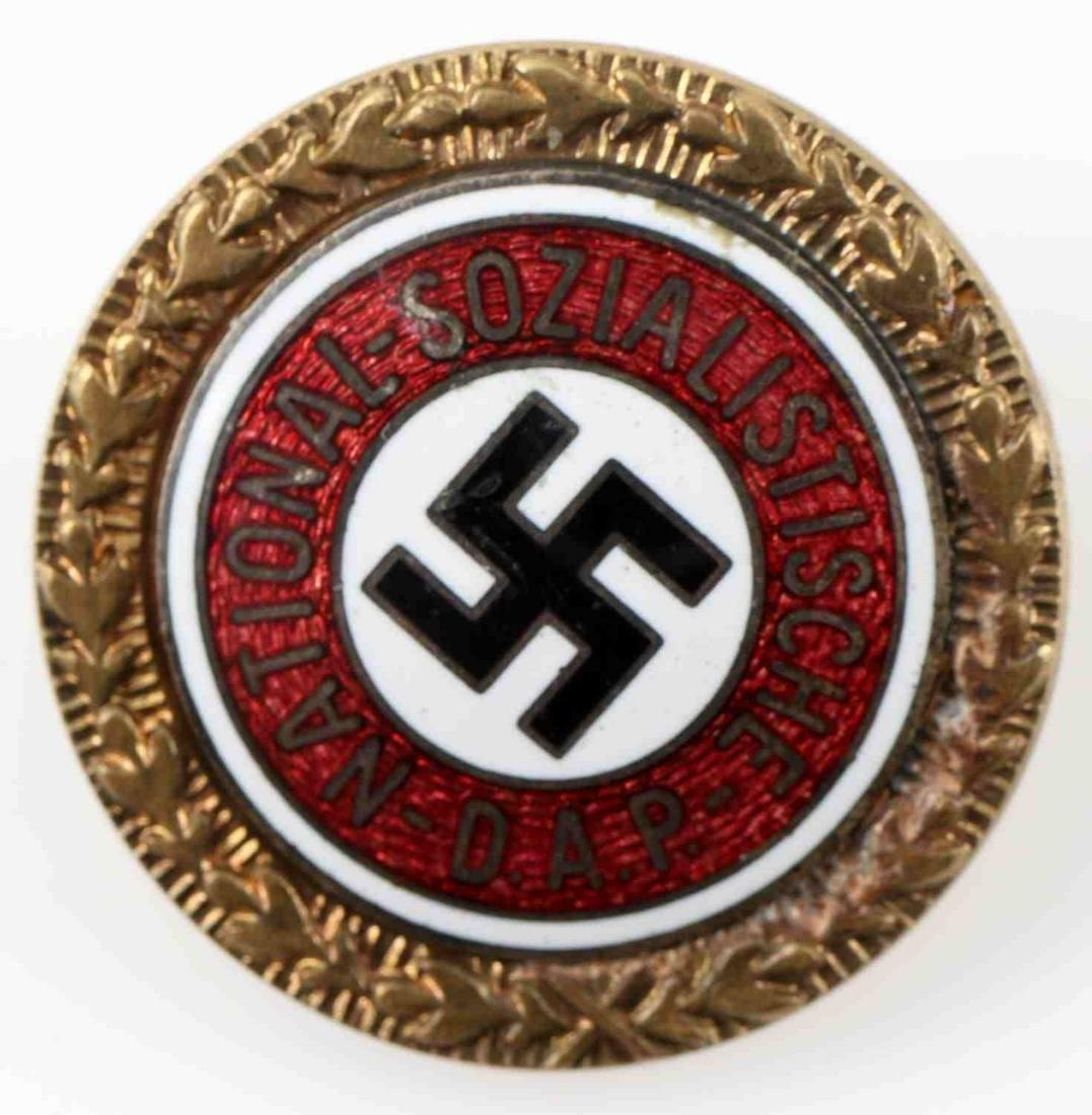 WWII GERMAN THIRD REICH NSDAP GOLDEN PARTY BADGE