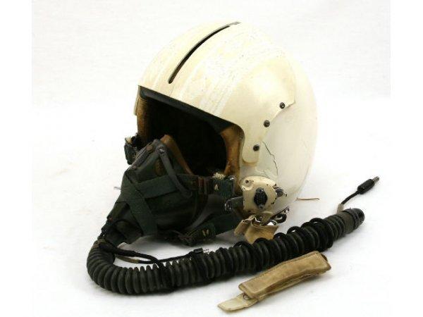 USAF FIGHTER PILOT HELMET WITH OXYGEN MASK MBU SP