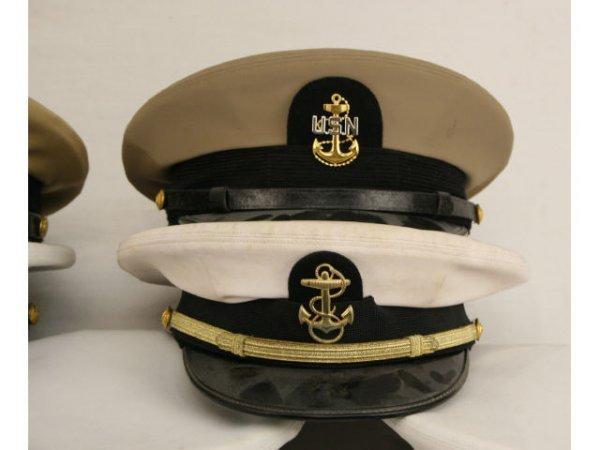 U.S. NAVY USCG VISOR HAT LOT CPO TO CAPTAIN - 2