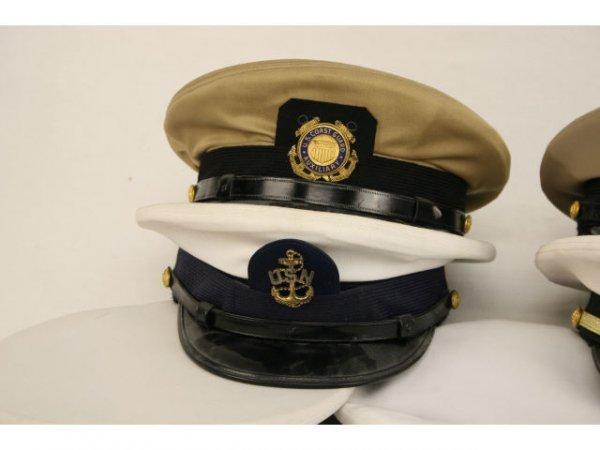 U.S. NAVY USCG VISOR HAT LOT CPO TO CAPTAIN - 3