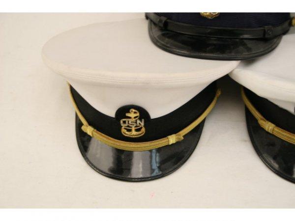U.S. NAVY USCG VISOR HAT LOT CPO TO CAPTAIN - 4