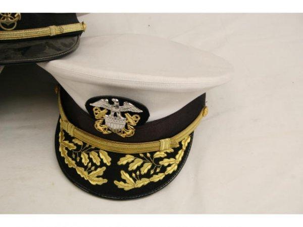 U.S. NAVY USCG VISOR HAT LOT CPO TO CAPTAIN - 5