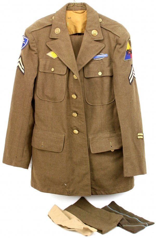 WWII ARMY ARMORED DIVISION COMBAT UNIFORM