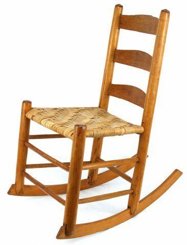 OAK & MAPLE HAND CRAFTED CHILDS ROCKING CHAIR
