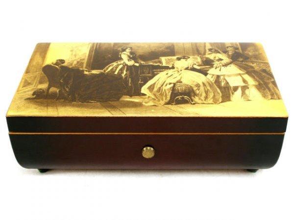 GEUGE SWISS MUSIC BOX 4/50 LAQUERED SAINTE-CROIX