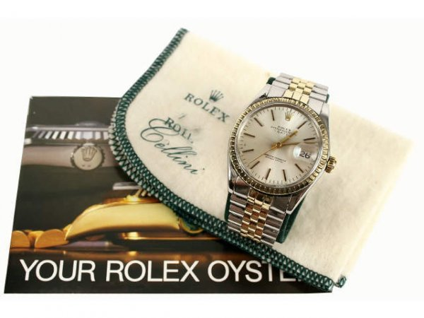 ROLEX MENS STAINLESS 14K GOLD OYSTER TWO TONE