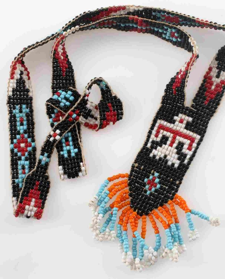 SOUTH AMERICAN BEADED NECKLACE WITH EAGLE