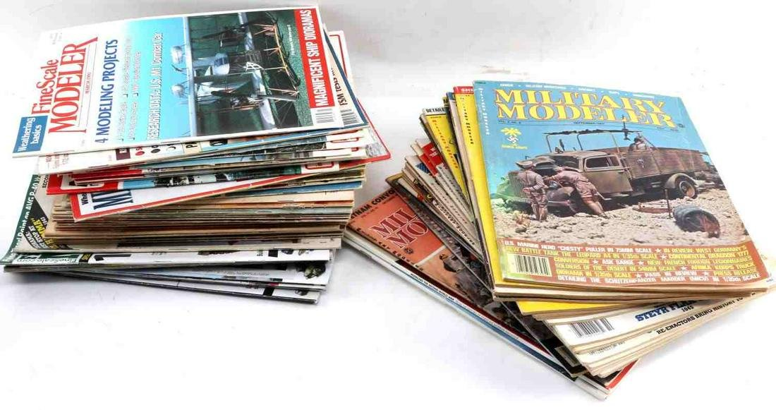 LOT OF 68 MODELING CATALOGUES MILITARY FINESCALE