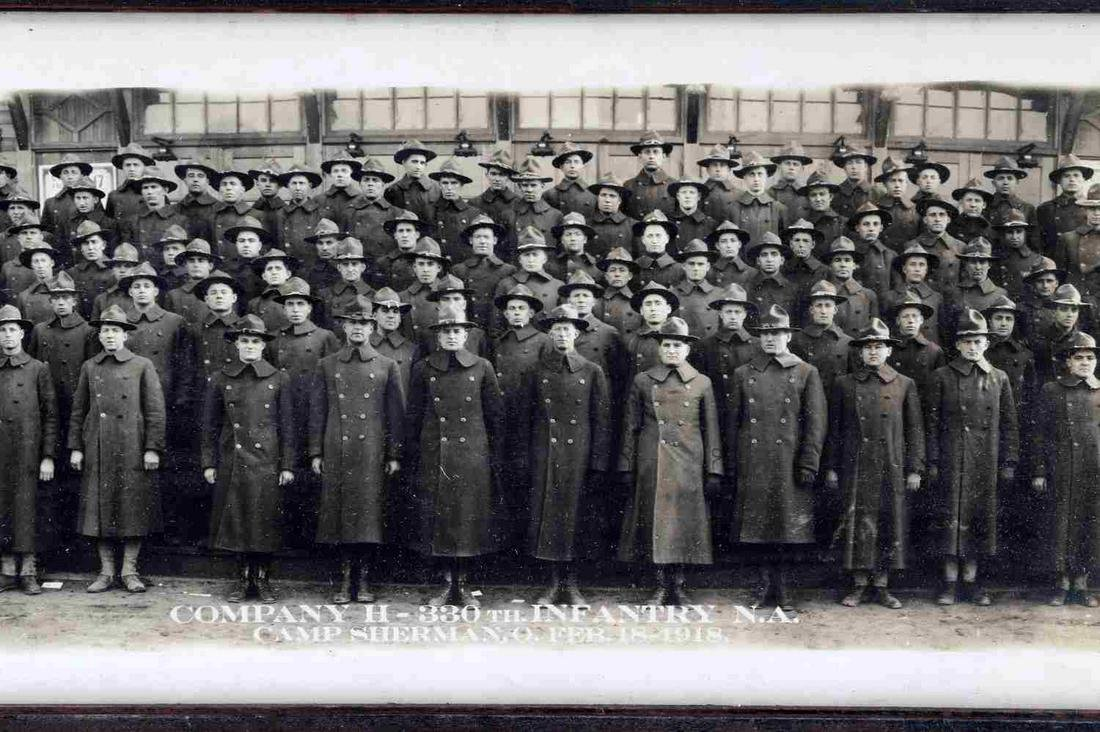 WWI US ARMY YARDLONG PHOTOGRAPH 126TH & 330TH INF