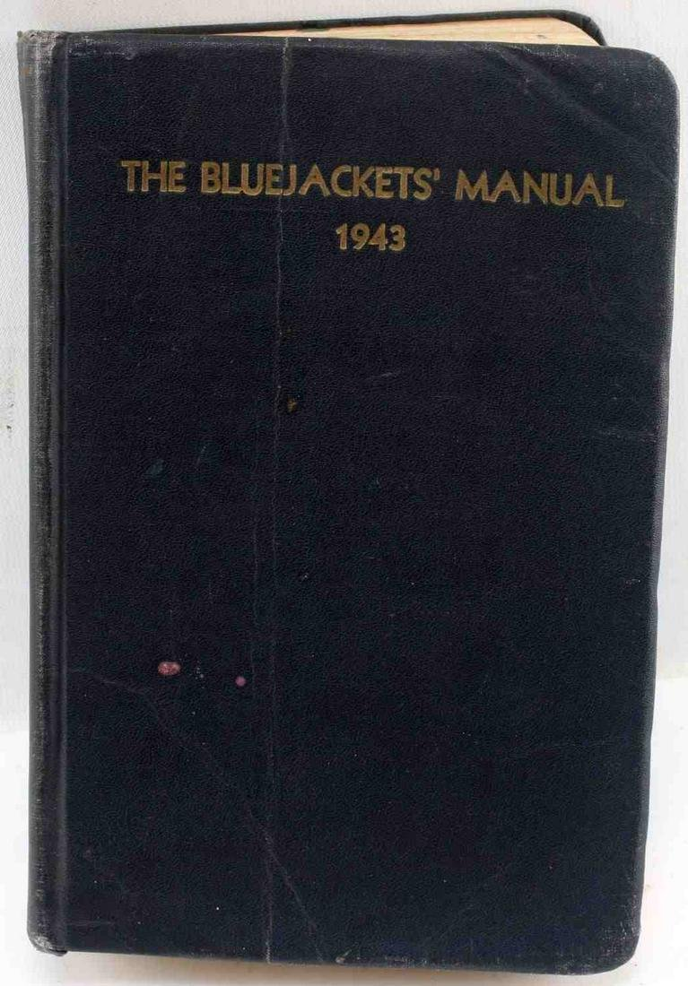 1943 WWII US NAVY ISSUE BLUE JACKETS MANUAL