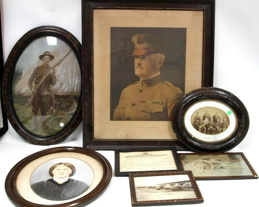 GENERAL PERSHING LITHOGRAPH WWI PHOTOS DOCUMENTS