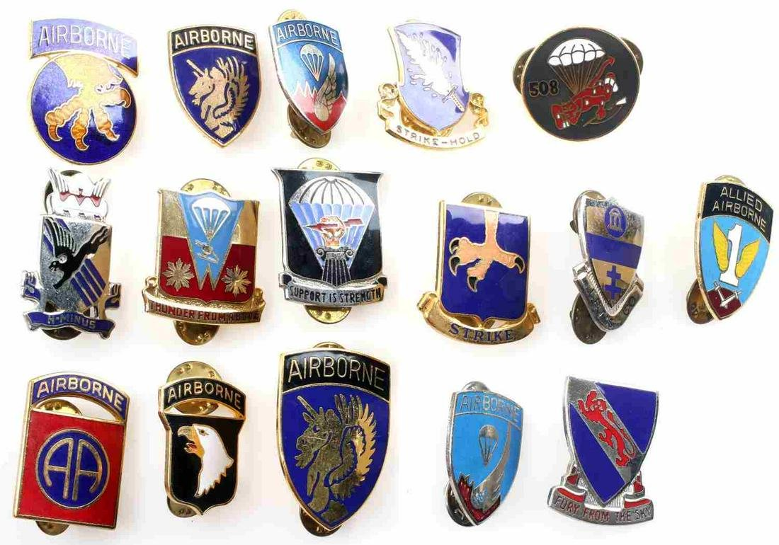 LOT OF 16 US PATCHES INCL 101ST AIRBORNE AND WWII