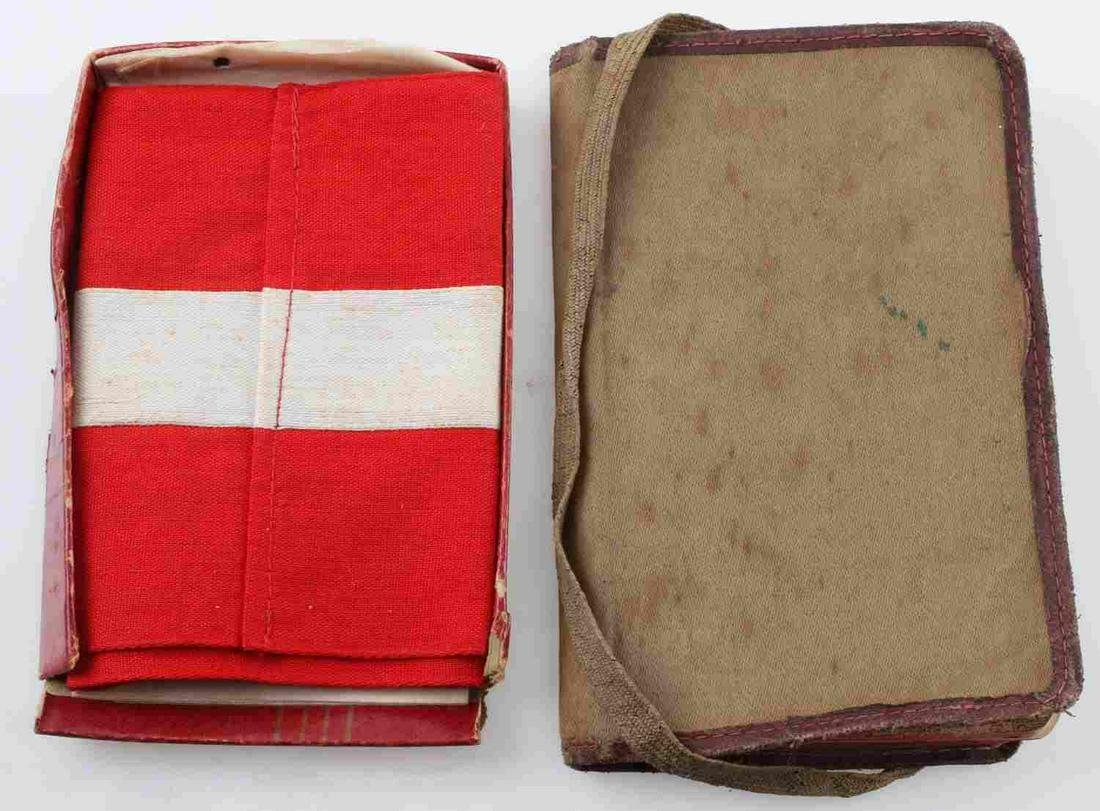 WWII GERMAN THIRD REICH NAZI ARMBAND AND JOURNAL