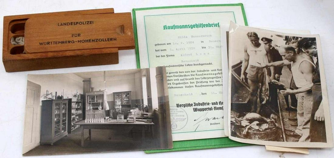 WWII GERMAN THIRD REICH PHOTOS DOCUMENTS AND MISC