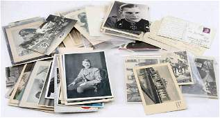 WWII GERMAN THIRD REICH POSTCARD & PHOTO LOT
