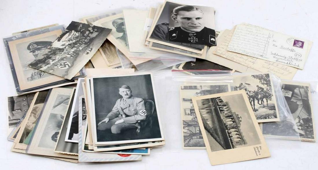 WWII GERMAN THIRD REICH POSTCARD & PHOTO LOT