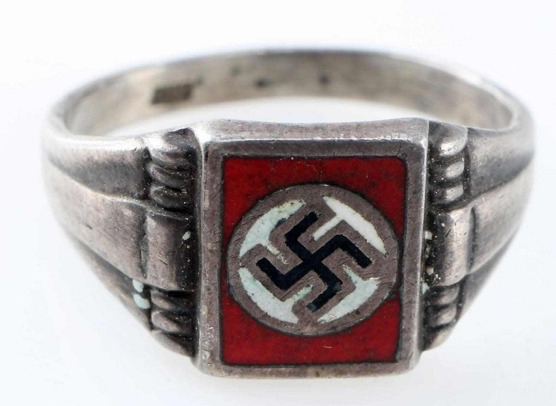 WWII GERMAN THIRD REICH .800 SILVER PARTY RING