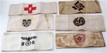 WWII GERMAN THIRD REICH ARMBANDS LABOR WAFFEN SS