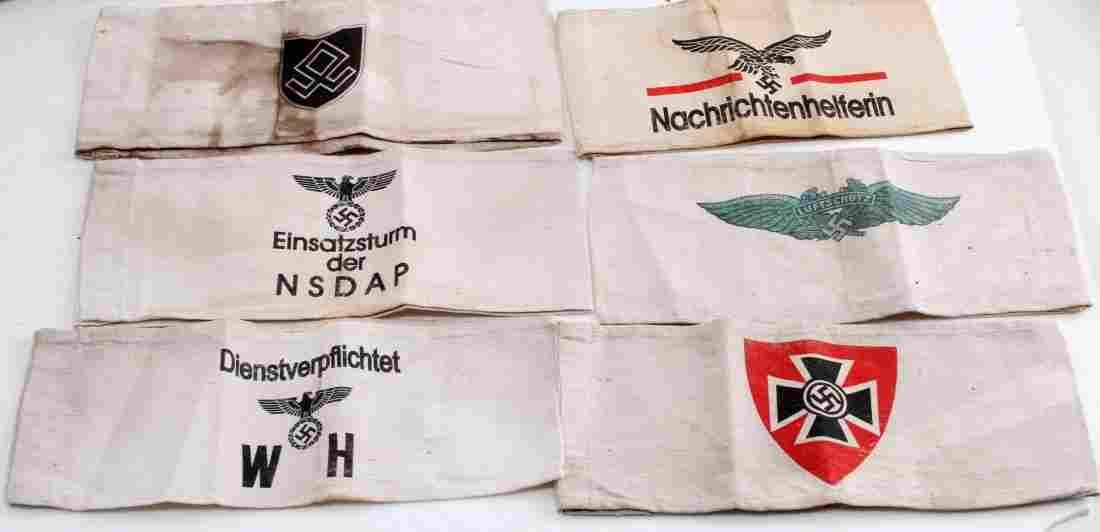 WWII GERMAN THIRD REICH ARMBANDS NSDAP WAFFEN SS