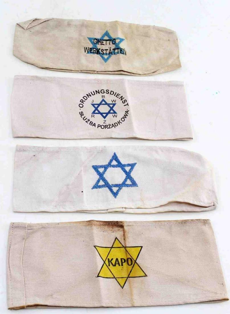 WWII GERMAN THIRD REICH 4 HOLOCAUST ARMBANDS