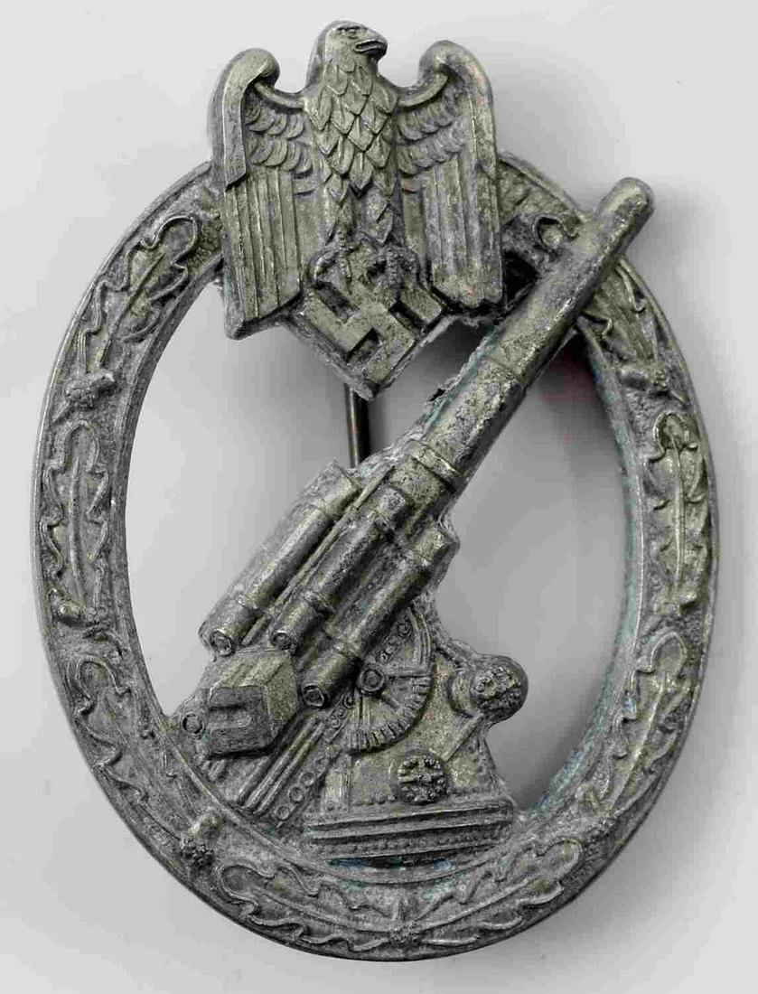 WWII GERMAN ARMY HEER FLAK ANTI AIRCRAFT BADGE