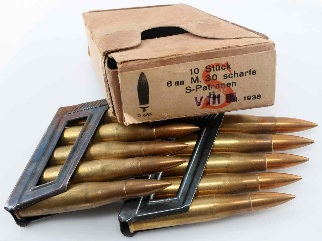 WWII GERMAN THIRD REICH BOXED 8MM STRIPPER CLIPS