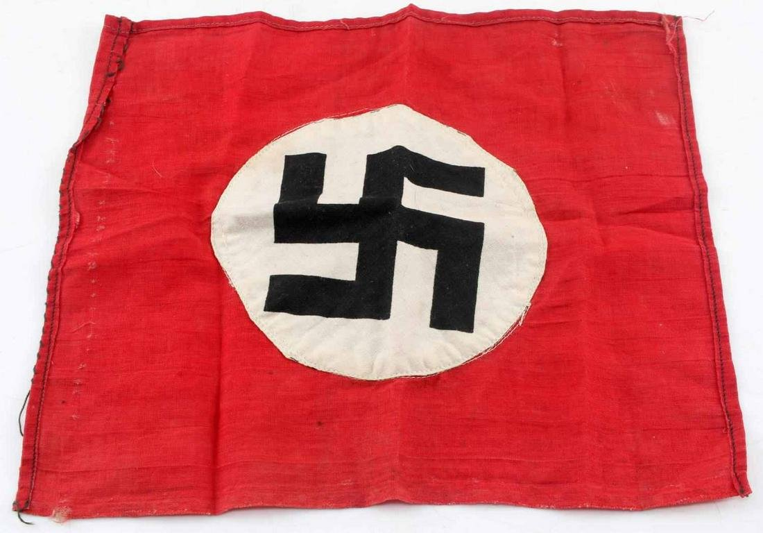 WWII GERMAN THIRD REICH SMALL NSDAP FLAG