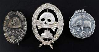 WWII GERMAN 3RD REICH TANK  WOUND BADGE LOT OF 3