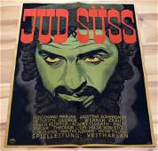 WWII GERMAN 3RD REICH ANTI SEMITIC POSTER JUD SUSS