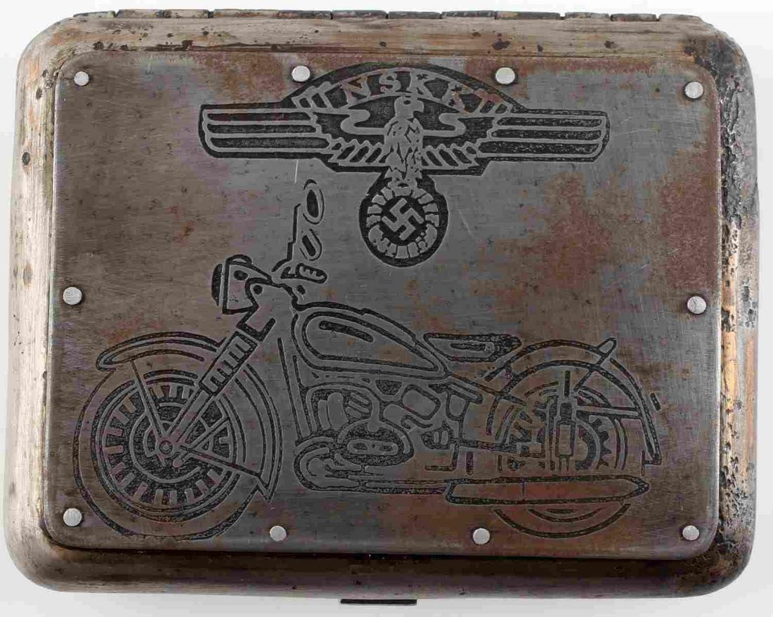 WWII GERMAN THIRD REICH NSKK CIGARETTE CASE