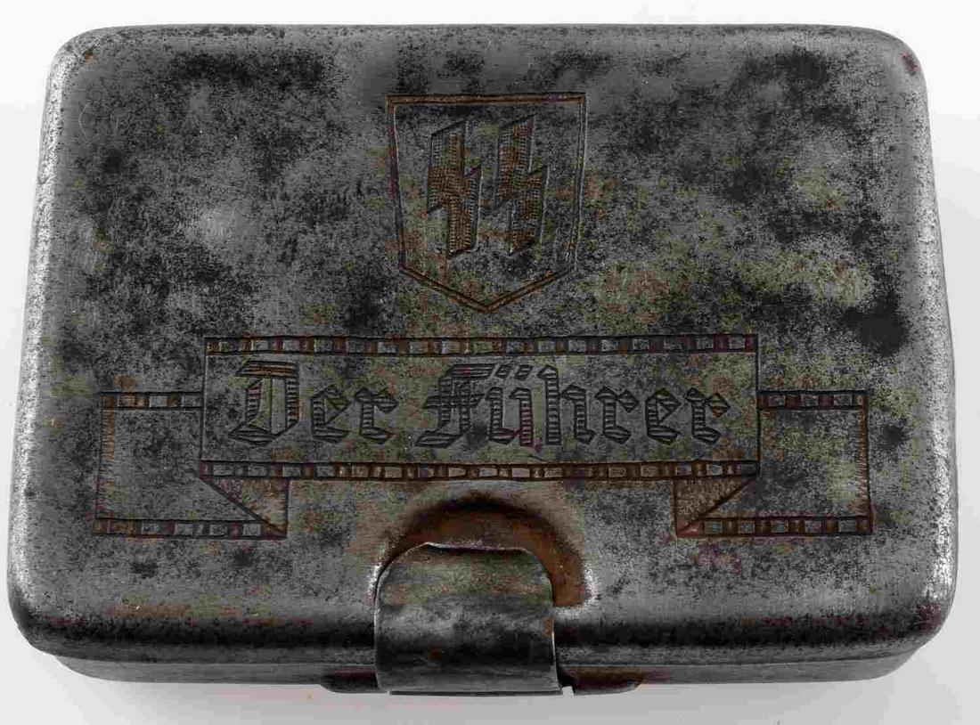 WWII GERMAN THIRD REICH SS DIVISION CIGARETTE CASE